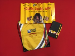 DHL Clapbanner for Rugby World Cup - Event Merchandiising