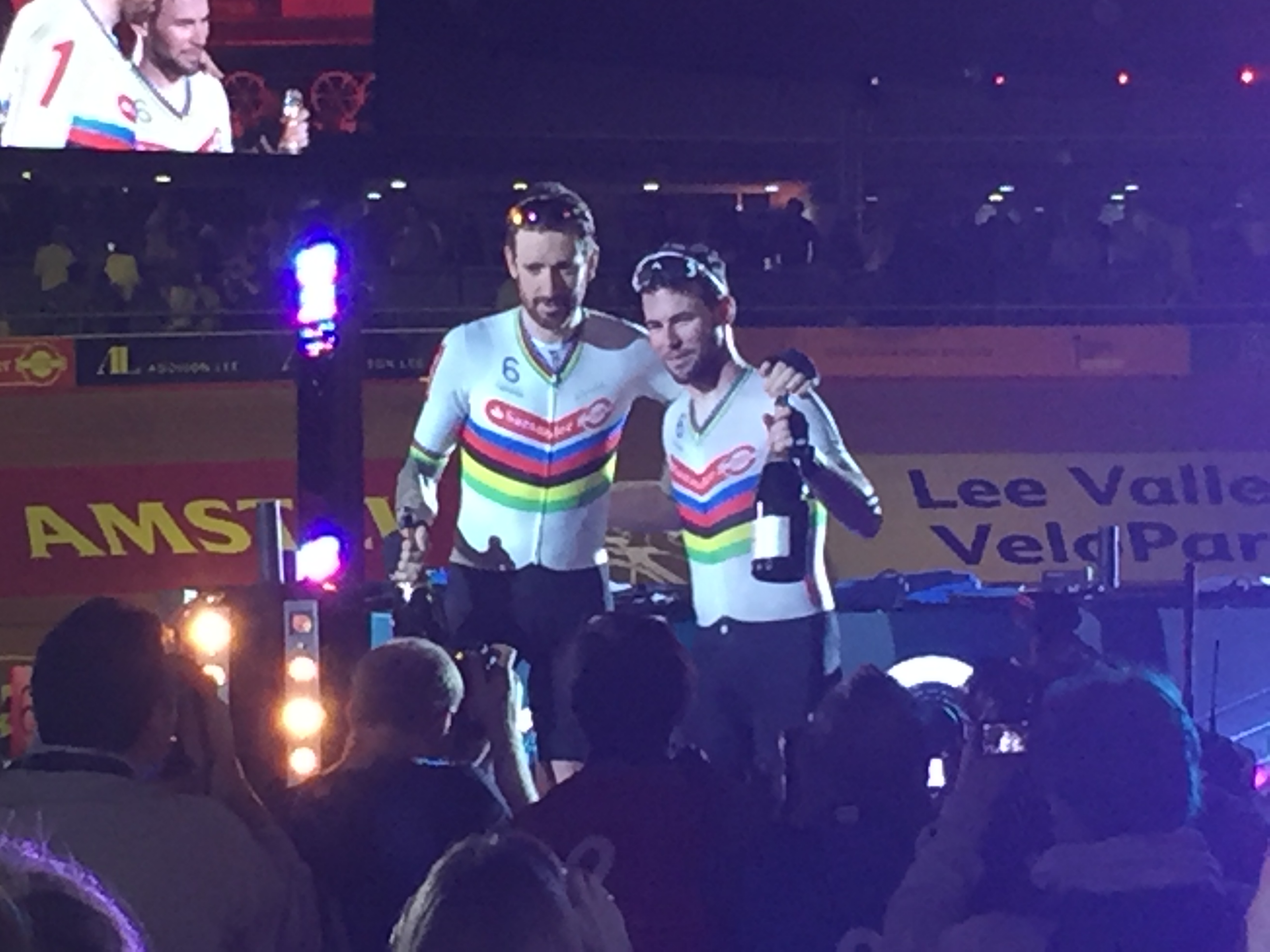 Mark Cavendish and Bradley Wiggins at Six Day Racing