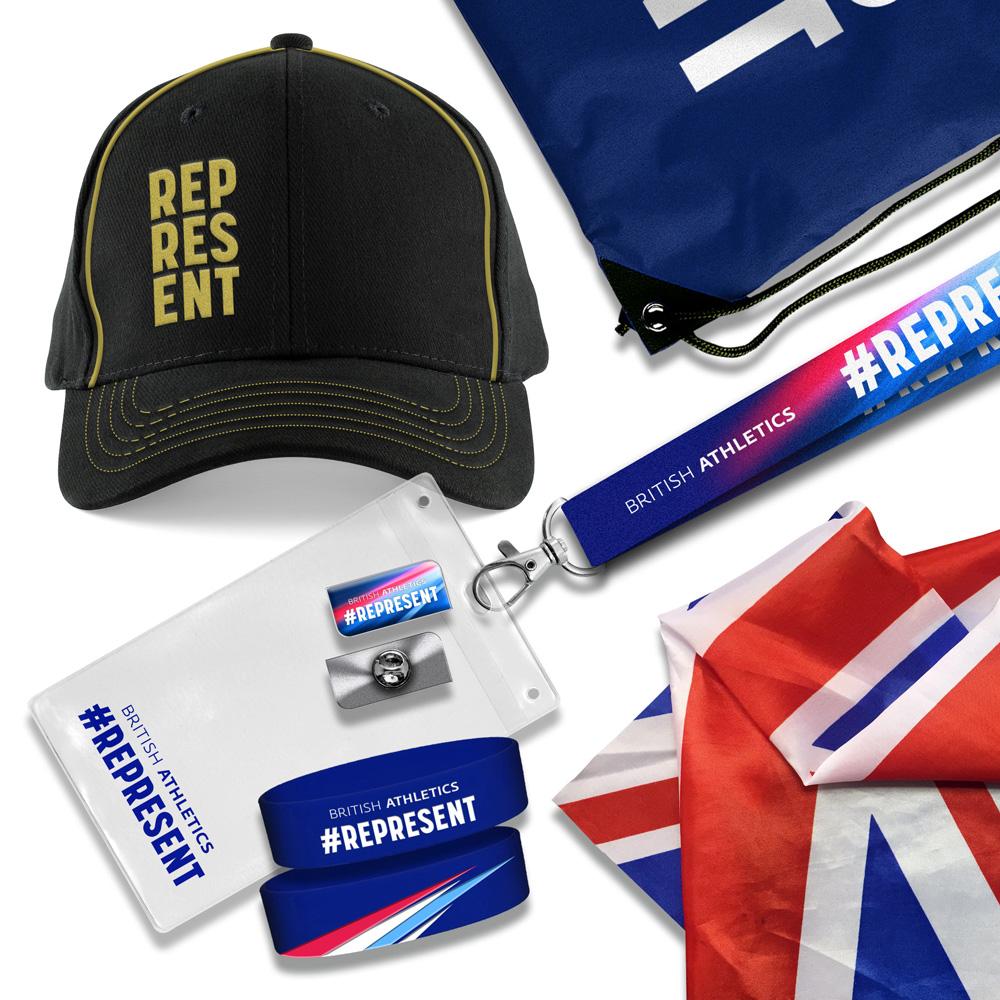British Athletics #Represent Merchandise