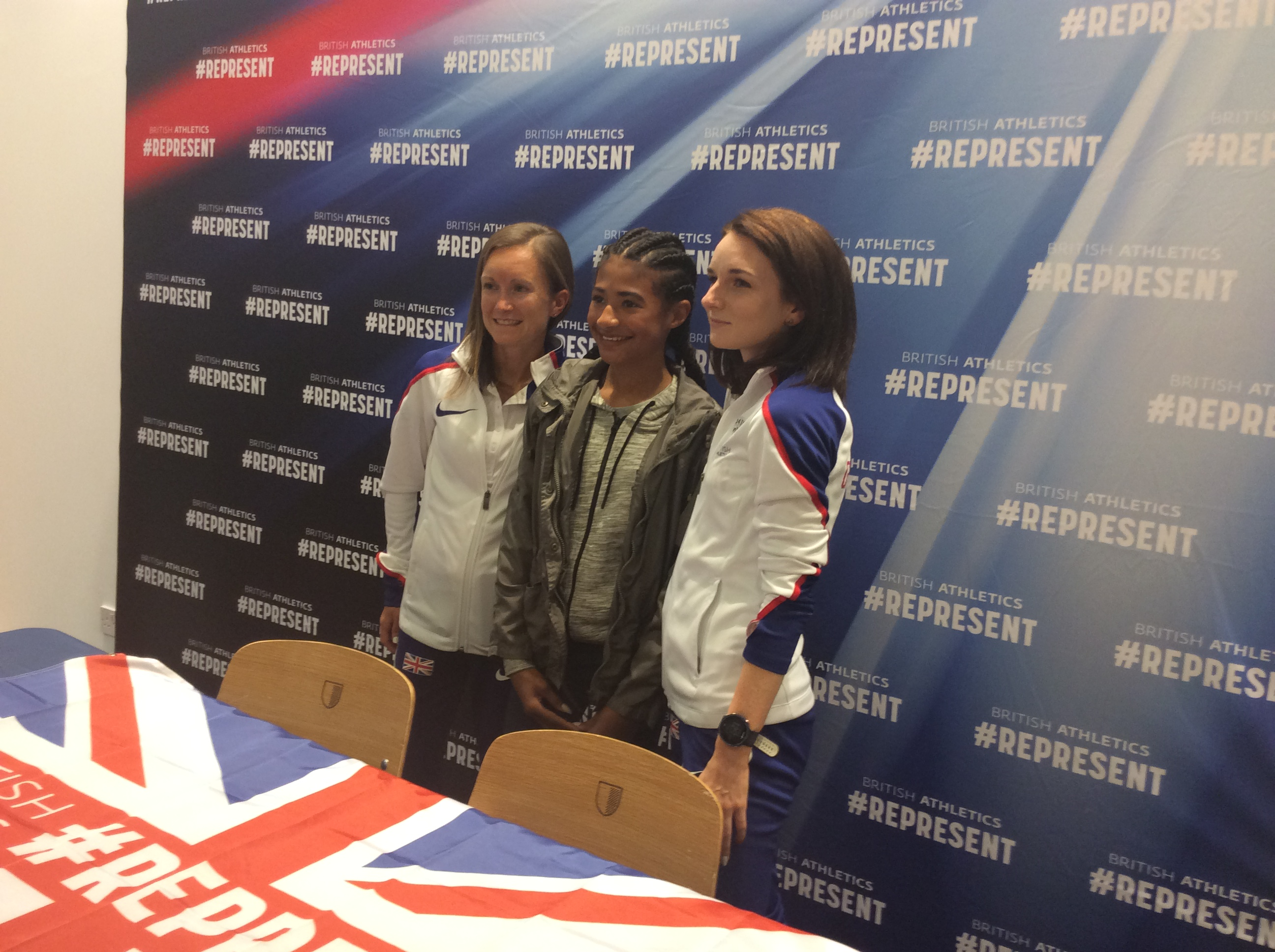 Sarah McDonald, Aly Dixon and fan