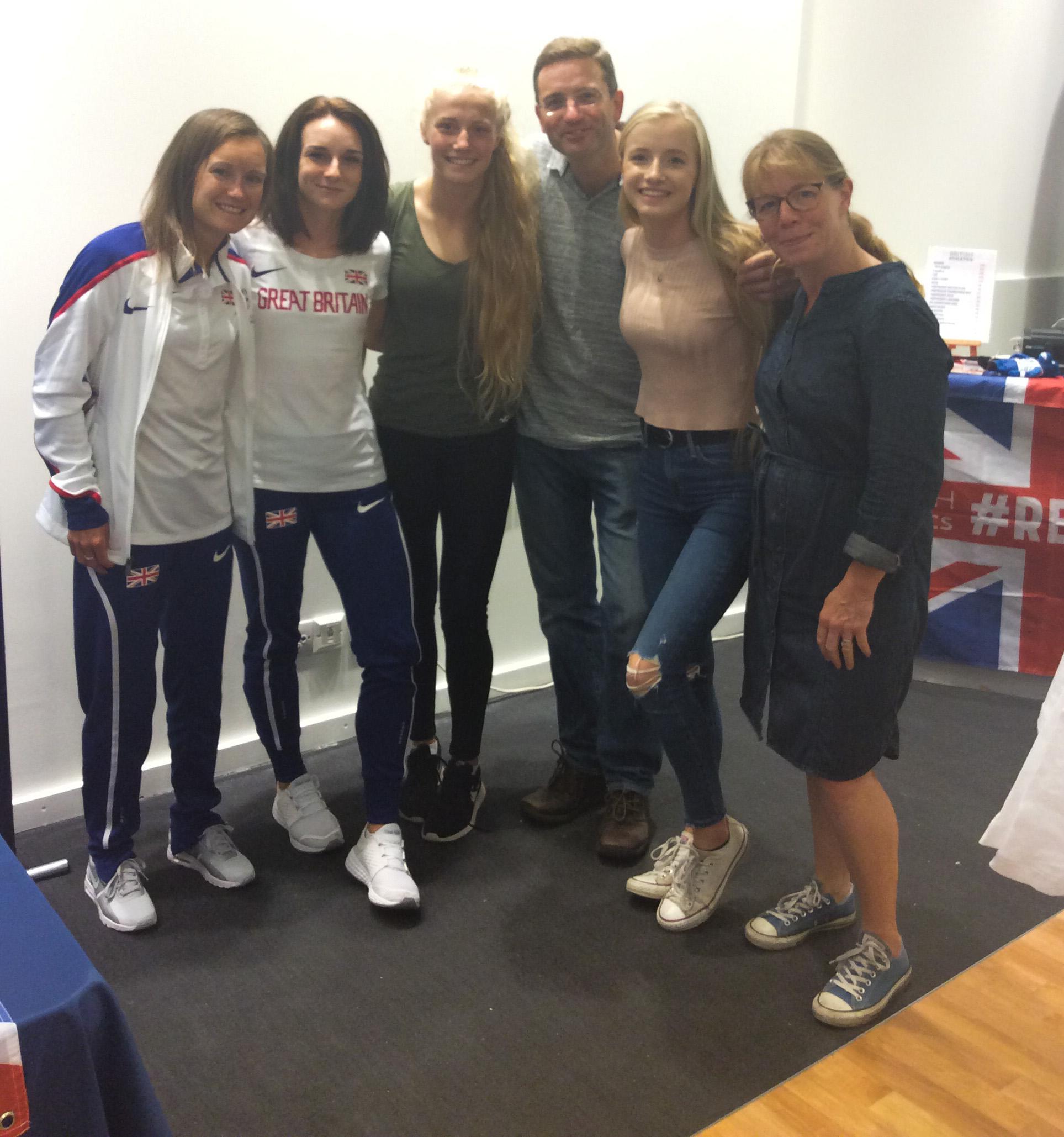 Sarah McDonald, Aly Dixon and fans